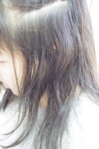 ロング黒髪縮毛矯正ビフォア