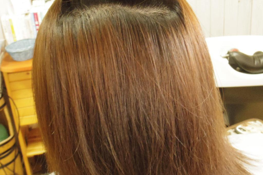 おさまった髪の毛